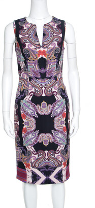Etro Multicolor Paisley Printed Sleeveless Midi Dress S