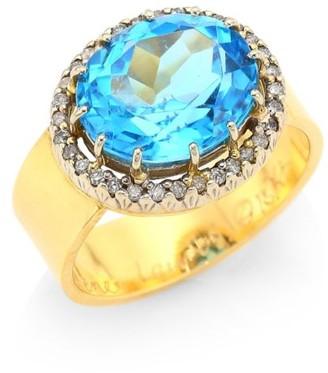 Renee Lewis Antique Diamond 18K Gold Surround Ring