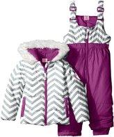 U.S. Polo Assn. Little Girls' Toddler Zig Zag Patterned Puffer Pram