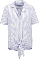 Equipment Keira knotted striped cotton top
