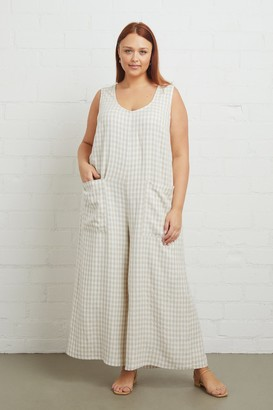 White Label Linen Remy Jumpsuit - Plus Size