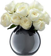 LSA International Polka Vase Platinum
