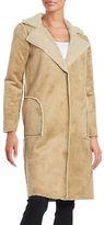 Velvet By Graham And Spencer Faux Fur Long Sleeve Coat