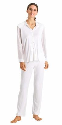 Hanro Women's Alika Long Sleeve Pajama Set