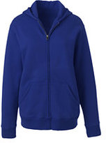 Lands' End Women's Zip-front Sweatshirt-Red
