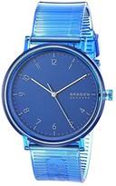 Skagen Aaren Transparent Three-Hand Watch (SKW6602 Blue Silicone) Watches