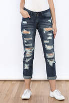 Machine Jeans Cut Off Boyfriend Jeans