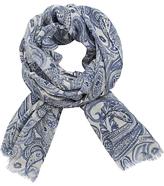 Gerard Darel Elicia Wool Paisley Scarf, Blue