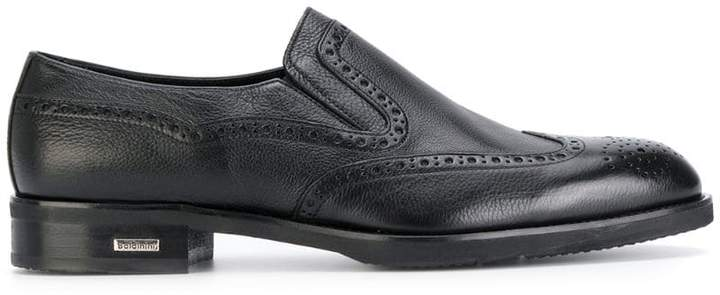 Baldinini brogue detail loafers