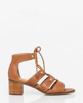 Le Château Leather Open Toe Ghillie Tie Sandal