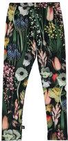 Molo Niki Soft Botanic Stretch Leggings, Green/Multicolor, Size 3-14