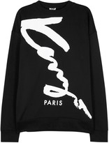 Kenzo Black Printed Cotton Blend Sweatshirt