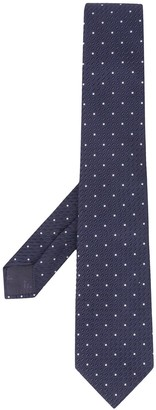 Emporio Armani Textured Dotted Tie