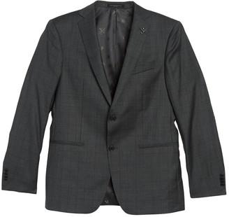 John Varvatos Grey Sharkskin Notch Lapel Suit Separate Sport Coat