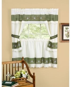 Achim Berkshire Embellished Cottage Window Curtain Set, 58x36