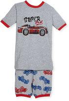 Petit Lem Race Car Top & Pants Pajama Set, Gray, Size 5-6X