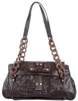 R & Y Augousti R&Y Augousti Snakeskin Chain-Link Shoulder Bag