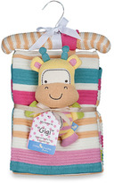 Bed Bath & Beyond Lolli Living(TM) by Living Textiles Baby Cotton Knitted Blanket & Rattle Toy - Gigi Giraffe