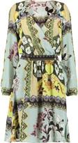 Etro Wrap-effect printed silk-chiffon dress