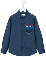Fendi monster button down shirt