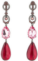 Oscar de la Renta Resin & Crystal Drop Earrings