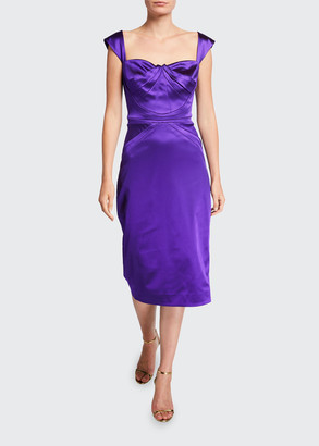 Zac Posen Square-Neck Cocktail Dress