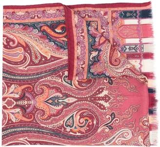 Etro Paisley-Print Cashmere-Blend Scarf