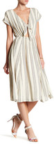 June & Hudson Cutout Stripe Dress