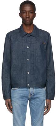 Nudie Jeans Indigo Denim Vinny Dry Classic Slub Jacket