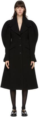 J.W.Anderson Black Shoulder Pleat Coat