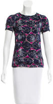 Tory Burch Silk-Blend Abstract Top