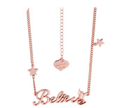 Disney Rose Gold Plated Believe Tinkerbell Necklace