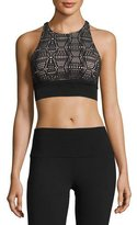 Alo Yoga Illuminate Lace-Print Sports Bra