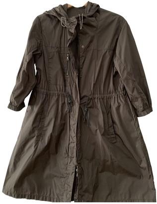 Prada Green Cotton Trench Coat for Women