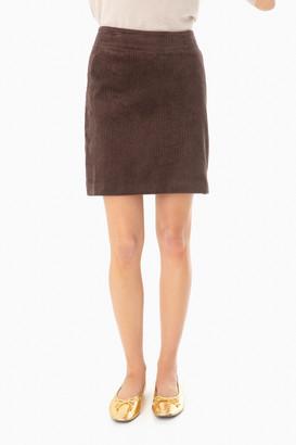 525 America Brown Corduroy Mini Skirt