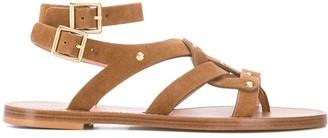 Alberta Ferretti Stud-Embellished Flat Sandals