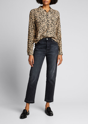 RE/DONE Two-Pocket Shirt in Cheetah Print