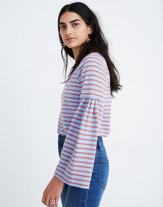Madewell Shirred-Sleeve Sailor Top