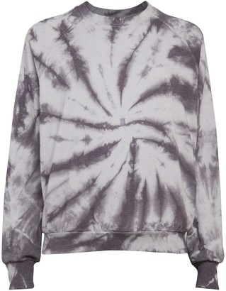 Betsey Johnson Tie-Dyed Cotton-Blend Sweatshirt