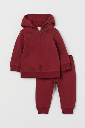 H&M 2-piece Sweatshirt Set - Red