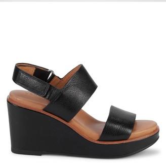 Gentle Souls Hope Leather Slingback Wedge Sandals