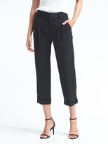 Banana Republic Barrel-Leg Pleated Crop Pant