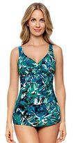 Croft & Barrow Women's Leaf Tummy Slimmer One-Piece Swimsuit