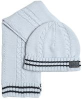 HUGO BOSS Tricot Cotton Scarf & Hat