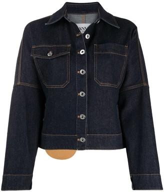 Lanvin Contrast-Stitch Denim Jacket