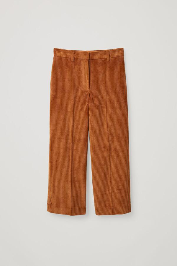 Cotton Wide-Leg Corduroy Trousers