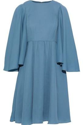 Mikael Aghal Draped Crepe Dress