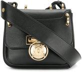 Balmain plaque-embellished shoulder bag - women - Calf Leather - One Size