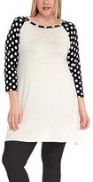 Celeste White Polka Dot Swing Dress - Plus