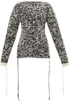 Joseph Mouline-knit Loose-thread Wool Sweater - Womens - Black White